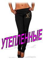 """Лосины теплые со стразами """"Louis Vuitton"""" код: 115.2"""