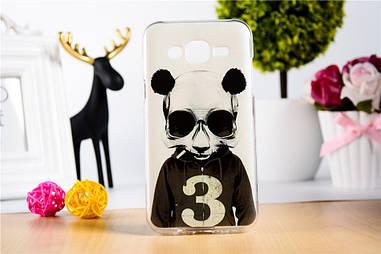 Оригінальний чохол для Samsung Galaxy J5 J500h з малюнком панда з цифрою три