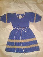 Вязанное платье на девочку 1,5-2 года