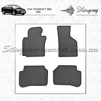 Комплект резиновых ковриков Stingray для автомобиля  Volkswagen Passat B6 2005-    4шт.