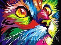 Игра Картины по номерам (VK002) Радужный кот (30х40)