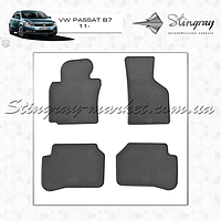 Volkswagen Passat B7 2011-  Резиновые коврики Оригинальный размер Комплект состоит из 4-х ковриков