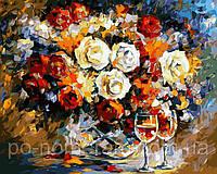 Игра Картины по номерам (VP063) Розы и вино (40 х 50 см)