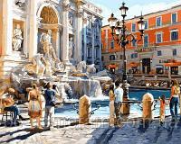 Игра Картины по номерам (VP685) Рим. Фонтан Треви (40х50 см)