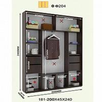 Шкаф-купе высота 2200, глубина 450, ширина на выбор