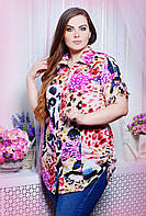 Рубашка с кулисками ВЕРЕВКА розовая 54