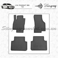 Комплект резиновых ковриков Stingray для автомобиля  Volkswagen Passat B8 2014-    4шт.