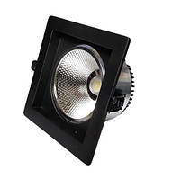 Светодиодный LED светильник 18 Вт холодный белый 6500К Черный, фото 1