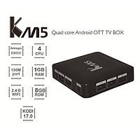 KM5, S905X, OTT, Android 6.0, TV Box, Amlogic, Quad Core, 1 Г/8 Г. DDR3, 2.4 Г, WI-FI, КОДИ, 4 К, Media Player