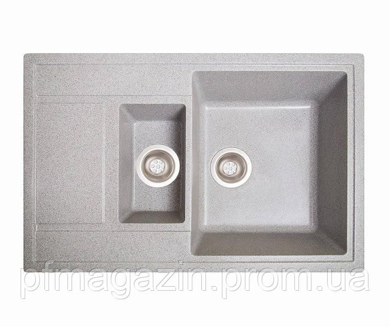 Мойка кухонная Solid Практик, серый (ДхШхГ-780х510х200(147))