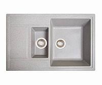 Мойка кухонная Практик, цвет - серый (ДхШхГ-780х510х200(147))