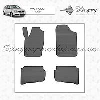 Комплект резиновых ковриков Stingray для автомобиля  VOLKSWAGEN POLO 02 2002-    4шт.