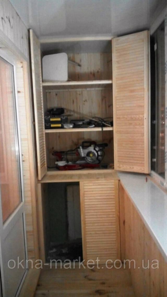 Обшивка балконов деревянной вагонкой