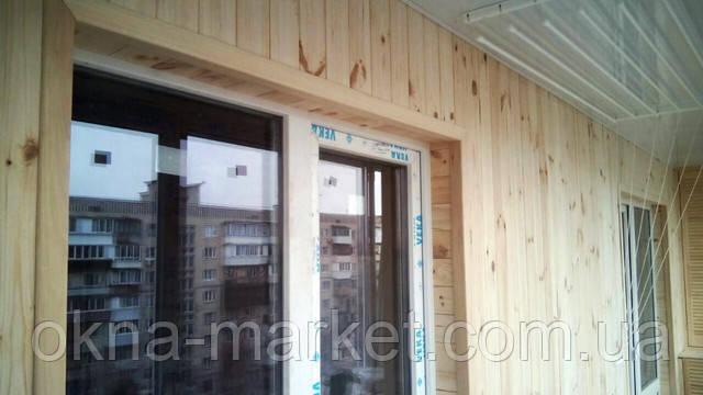 Остекление и обшивка балконов деревянной вагонкой