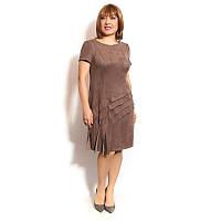 Женское платье большого размера из спандекса с воланами