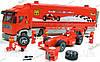 Конструктор Brick 406 F1 Transport Truck Фура и гоночный автомобиль  561 деталь + 5 человечков