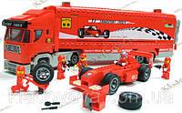 Конструктор Brick 406 F1 Transport Truck Фура и гоночный автомобиль  561 деталь + 5 человечков, фото 1