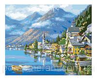 (---)Игра Картины по номерам (%10)(KH2143) Альпийская деревня