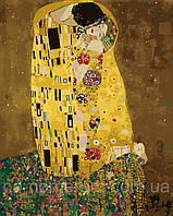 Игра Картины по номерам (KH1109) Поцелуй в золотой ауре