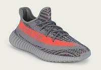 Женские кроссовки Adidas Yeezy Boost 350v2 Grey/Orange