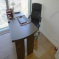 Коврик под кресло для защиты пола прозрачный 75х125см. Толщина 1,0мм