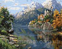 Игра Картины по номерам (VP399) На берегу горного озера (40х50)