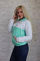 Женская ветровка спортивная на флисе М - 187 аиш.
