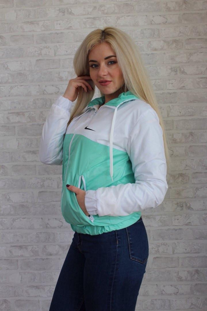 Женская ветровка спортивная на флисе М - 187 аиш., фото 1