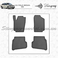 Комплект резиновых ковриков Stingray для автомобиля  Volkswagen Polo Sedan 2009-     4шт.