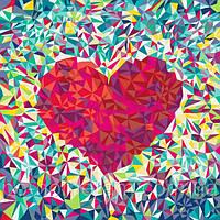 Игра Картины по номерам (KHO2039) Мозаичное сердце 40х50 см