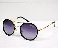 Очки женские от солнца Gucci Round черные, магазин очков