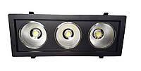 Светодиодный LED светильник 54 Вт холодный белый 6500К Черный, фото 1