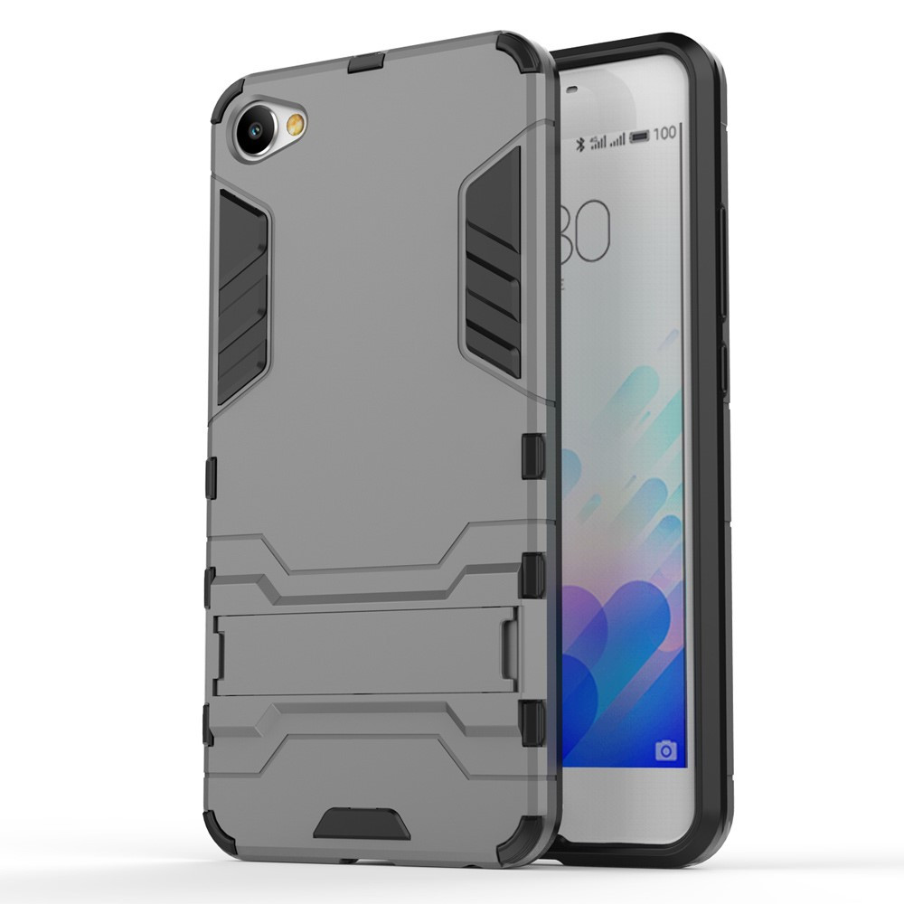 Чехол накладка силиконовый Armor Shield для Meizu M3x серый