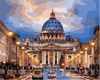 Игра Картины по номерам (VP648) Рим. Собор святого Петра (40х50 см)