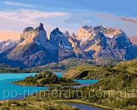 Игра Картины по номерам (VP650) Чили. Парк Торрес-дель-Пайне (40х50 см)