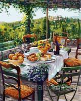 DIY Babylon Картины по номерам Завтрак с сыром и вином VP670 40х50 см