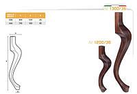 Ножка меблева фігурна букова DV Art. 1200/36