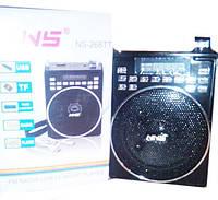 Радиоприемник NS-268TT(Дисплей,USB/microSD,MP3,FM,питание 4-5V/DC, Акк.)