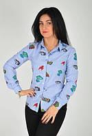 Женская рубашка с  рельефным выточкам