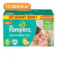 "Подгузники ""Pampers Active Baby-Dry"" 5 -87шт (Памперс ектив бейби)"