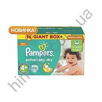 """Подгузники """"Pampers Active Baby-Dry"""" 4+ 96шт (памперсы ектив бейби)"""