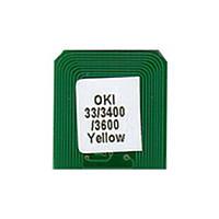 Чип для картриджа OKI C3300/3400/3600 (2.5K) Yellow BASF (WWMID-71090)