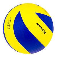 Мяч волейбольный Mikasa MVA330 PU желт/син