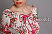 Блуза с широким декольте красный, фото 3