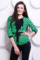 Красивая шифоновая блуза полуприлегающего силуэта с поясом и эффектными отделочными складами. Разные цвета