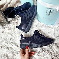 Синие женские кроссовки  Yeezy Boost код 231, фото 1