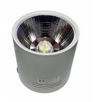 Светодиодный LED светильник 20 Вт накладной  холодный белый квадрат (6500К), фото 1