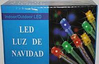 Новогодняя многоцветная гирлянда LED 400 M (400 светодиодов)