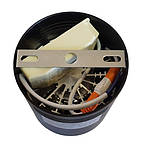 Светодиодный LED светильник 20 Вт накладной  холодный белый квадрат 6500К Черный, фото 3