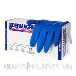Перчатки медицинские латексные Dermagrip High Risk, WRP 50 шт./уп.